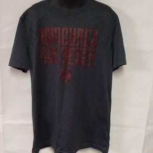 Under Armour Youth Boys Grey/Red Tshirt